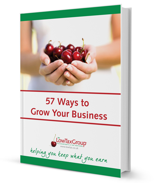 white book - <center>57 Ways To Grow Your Business</center>